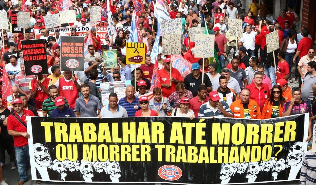 Centrais sindicais convocam mobilização nacional contra reforma da Previdência