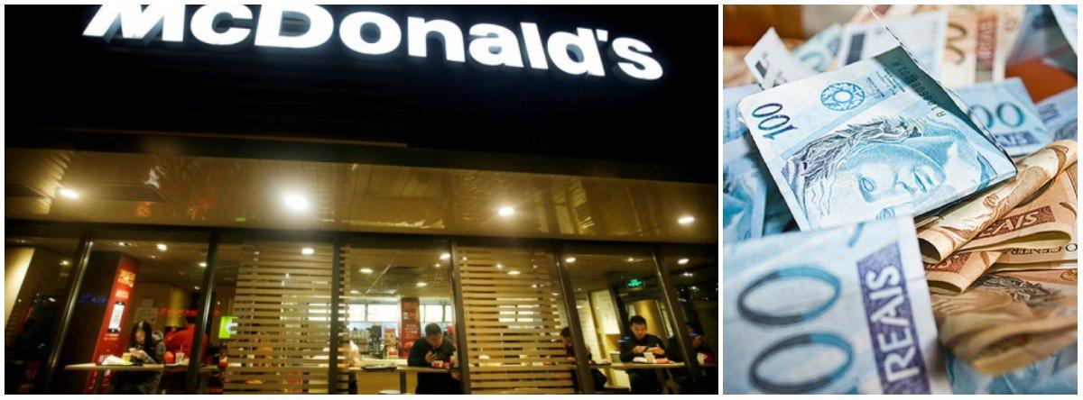 Justiça obriga McDonald's a pagar piso salarial