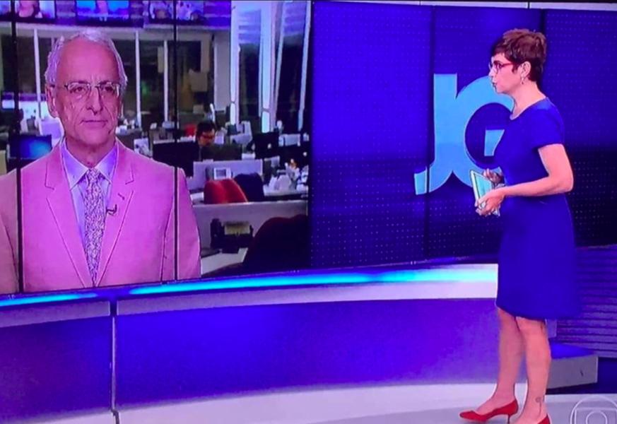 Contra Damares, Renata usa azul e Pontual rosa no Jornal da Globo