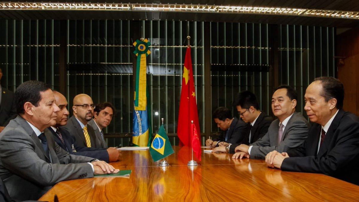 Mourão exalta parceria do Brasil com a China