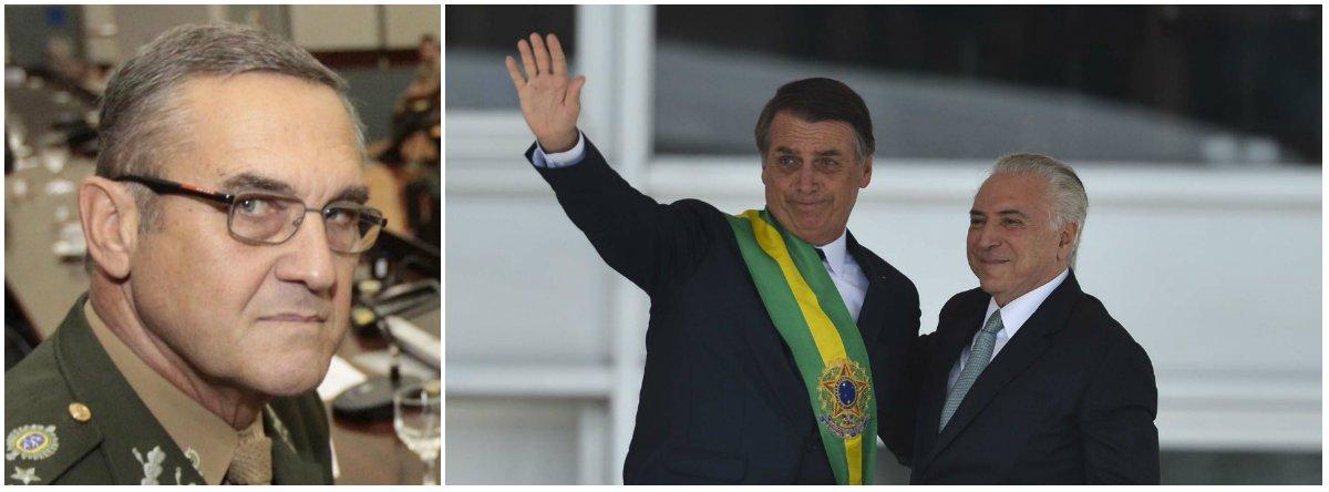 Bolsonaro admite que chegou à presidência com a ajuda do chefe do Exército