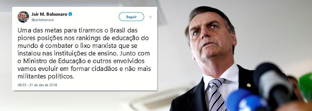 Na véspera da posse, Bolsonaro declara guerra à Educação