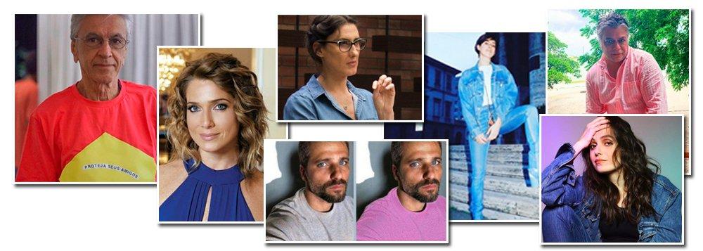 Artistas reagem contra o azul e rosa de Damares