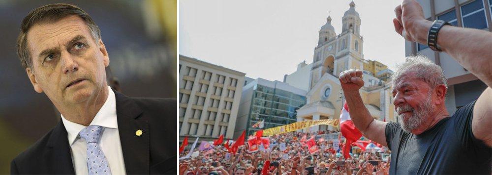 Bolsonaro tem inveja de Lula. Por isso o agride