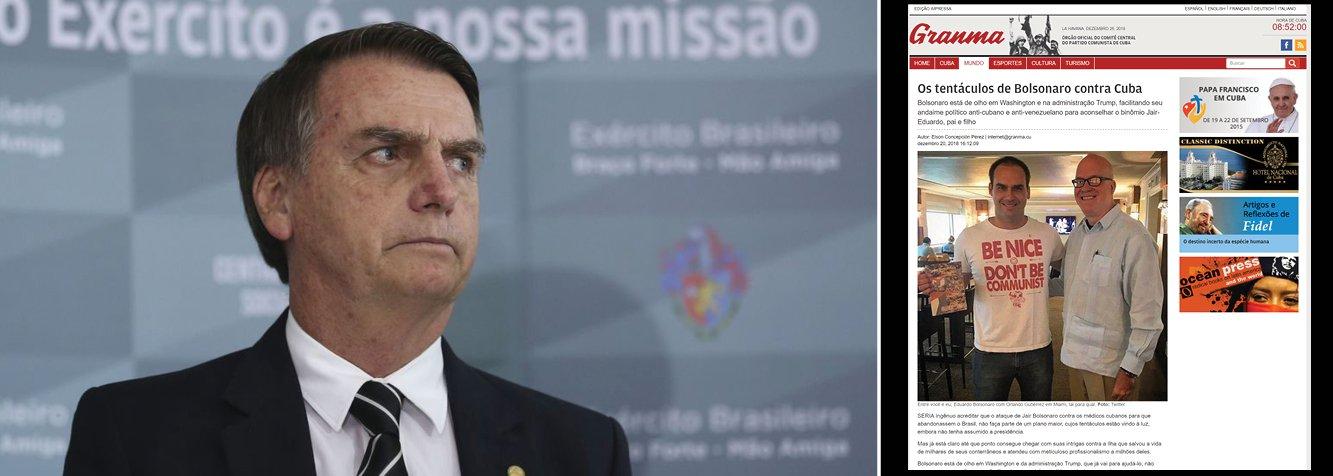 Bolsonaro ataca Cuba: se alimentaram de bilhões dos brasileiros