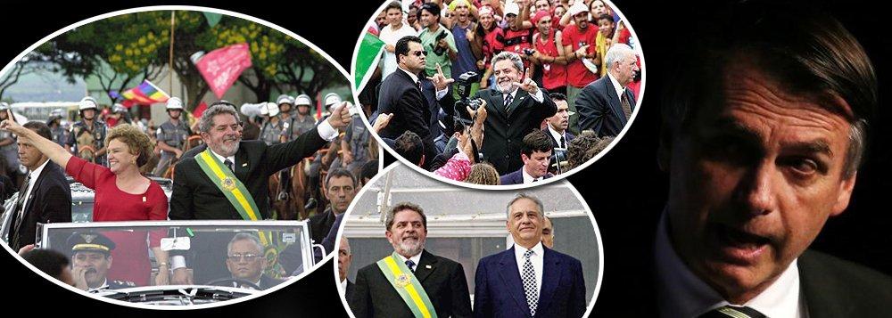 Às vésperas da posse, há 16 anos, Brasília era uma festa com Lula e FHC