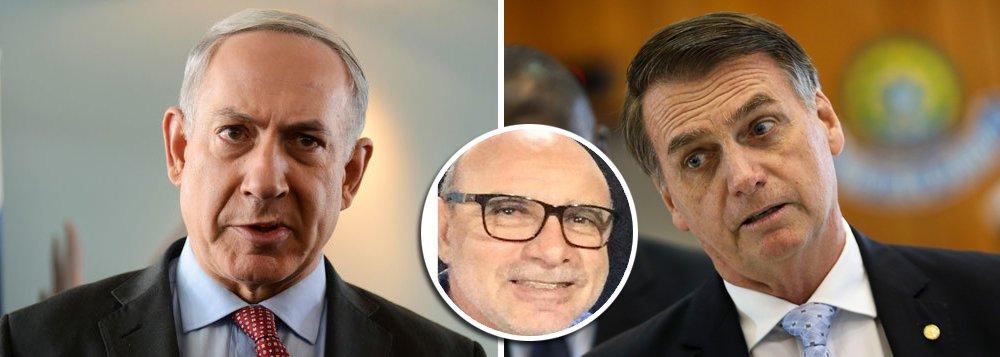 Tijolaço: Netanyahu dá bolo na posse de Bolsonaro. E o Fabrício?