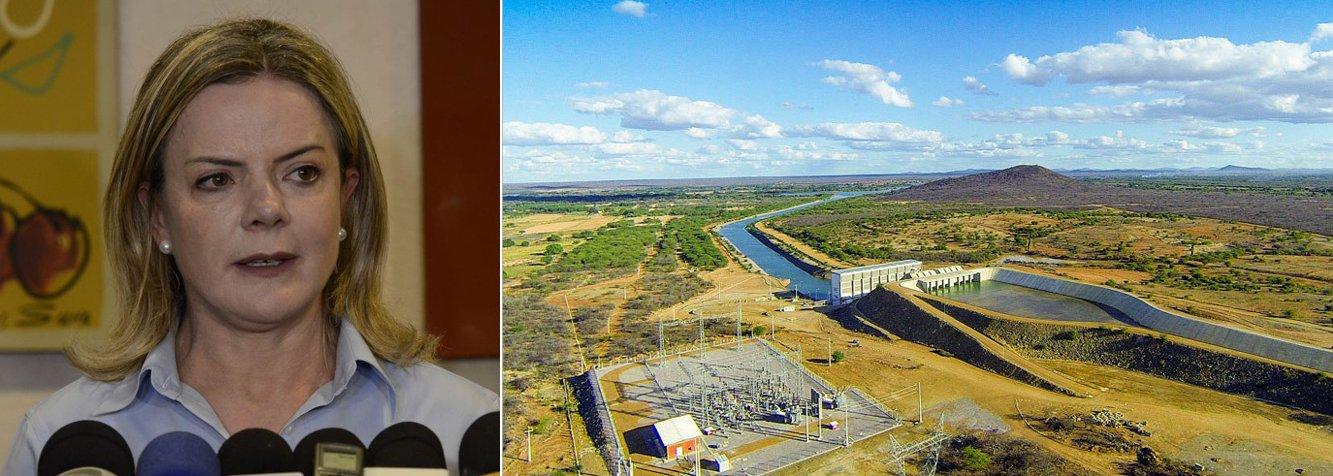 Gleisi critica lobby de Bolsonaro por Israel em relação à seca no Nordeste