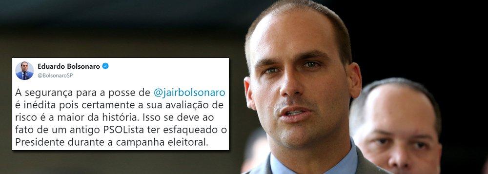 Eduardo Bolsonaro diz que Adélio é 'psolista'