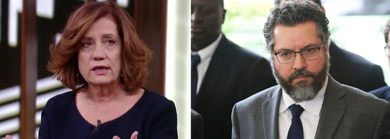 """Miriam Leitão qualifica Ernesto Araújo como """"ridículo"""""""