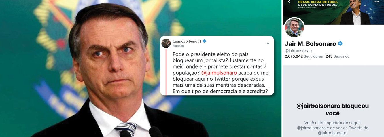 Bolsonaro bloqueia editor do Intercept em seu Twitter