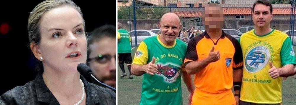 Gleisi: com Flávio convocado, talvez Queiroz agora apareça