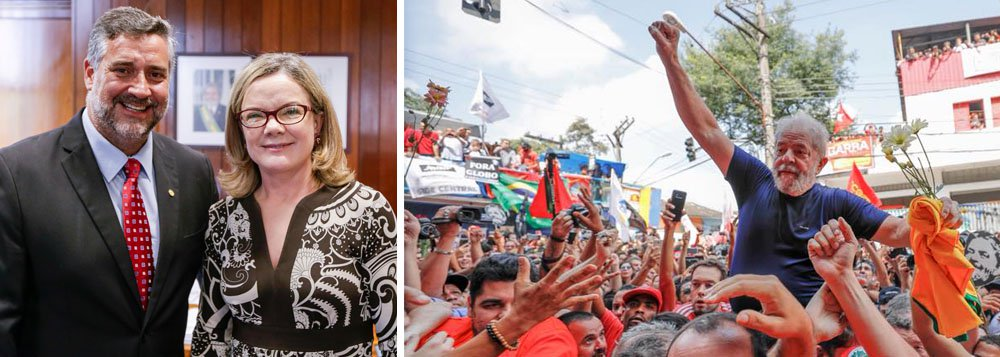 Gleisi: decisão de Marco Aurélio restabelece direito constitucional de Lula