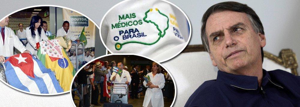 Sem provas, Bolsonaro acusa cubanos do Mais Médicos de serem 'agentes'