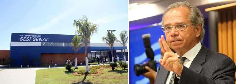 Prometida por Guedes, 'facada' no Sistema S fecharia 300 escolas