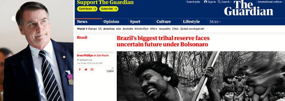 Fim de reserva indígena por Bolsonaro já repercute na imprensa global