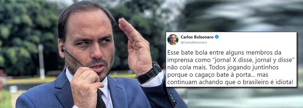 Carlos Bolsonaro ofende mais uma vez: 'cagaço' da mídia