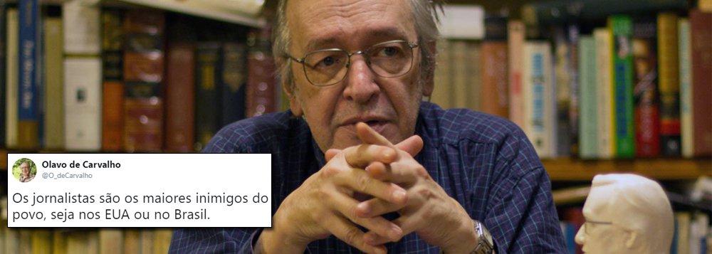 Jornalistas são os maiores inimigos do povo, diz Olavo, guru de Bolsonaro