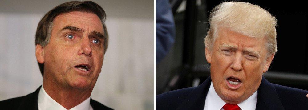 Ídolo de Bolsonaro, Trump não vem à sua posse