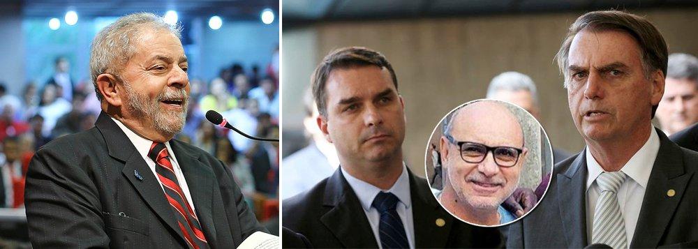 Bolsonaro agride Lula e nada diz sobre Queiroz