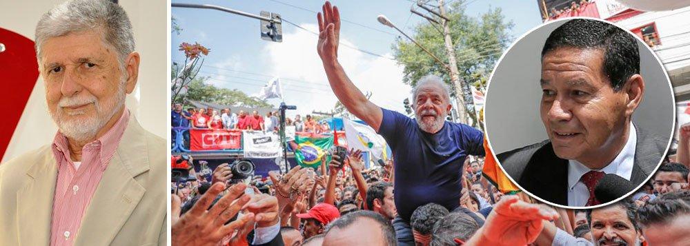 Amorim: solto, Lula será um fator de pacificação