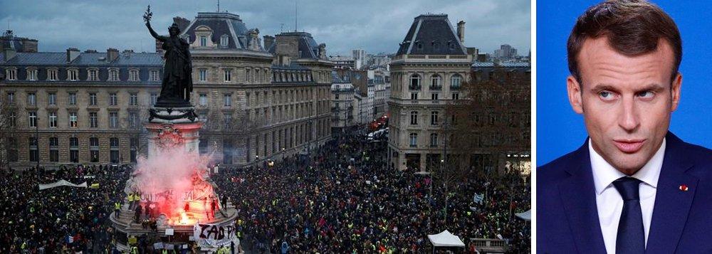 Manifestantes voltam às ruas na França no quinto sábado de protestos