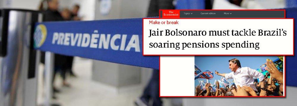 The Economist prevê catástrofe se não houver reforma da previdência