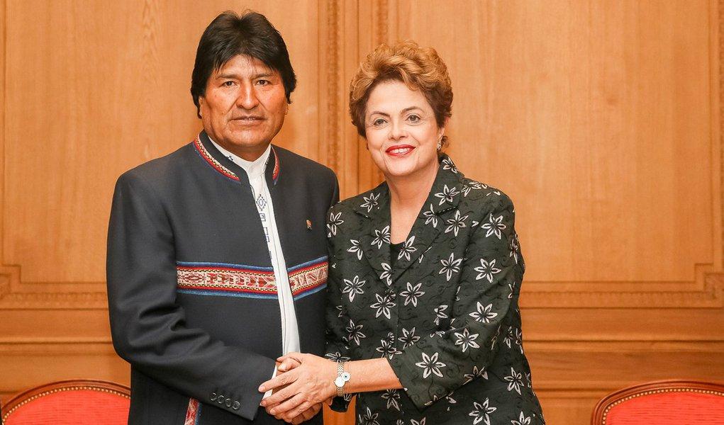 Evo Morales destaca valor da luta social de Dilma Rousseff