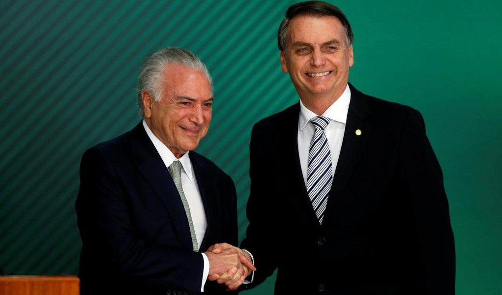 Temer decreta sigilo sobre gastos da equipe de transição de Bolsonaro