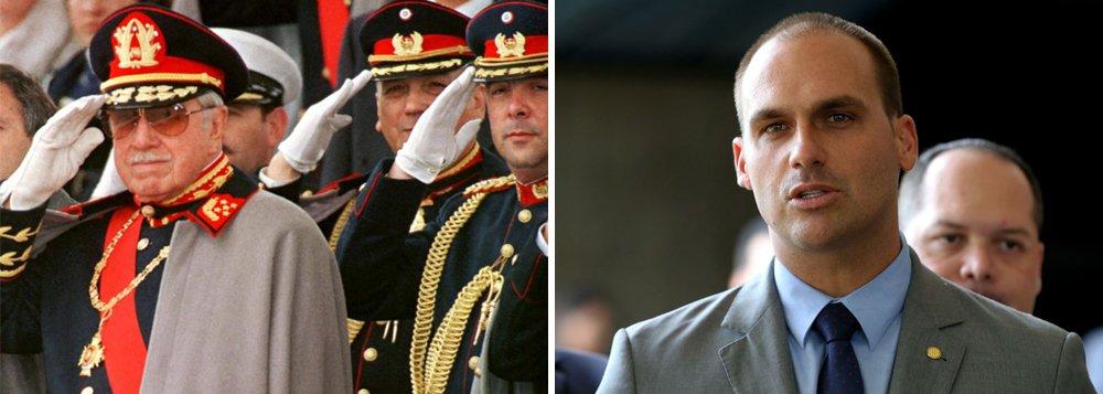 No Chile, Eduardo Bolsonaro faz elogios à ditadura de Pinochet