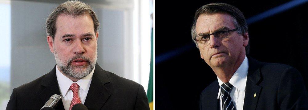 Toffoli recebe elogio de Bolsonaro por manter Lula preso
