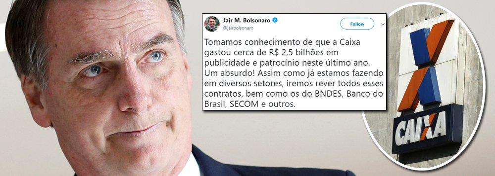 Acossado, Bolsonaro fala em cortar publicidade oficial da mídia