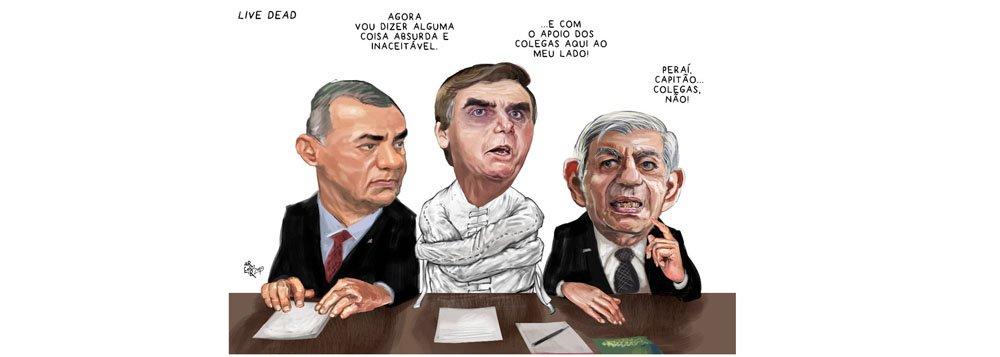Aroeira: militares põem camisa de força em Bolsonaro