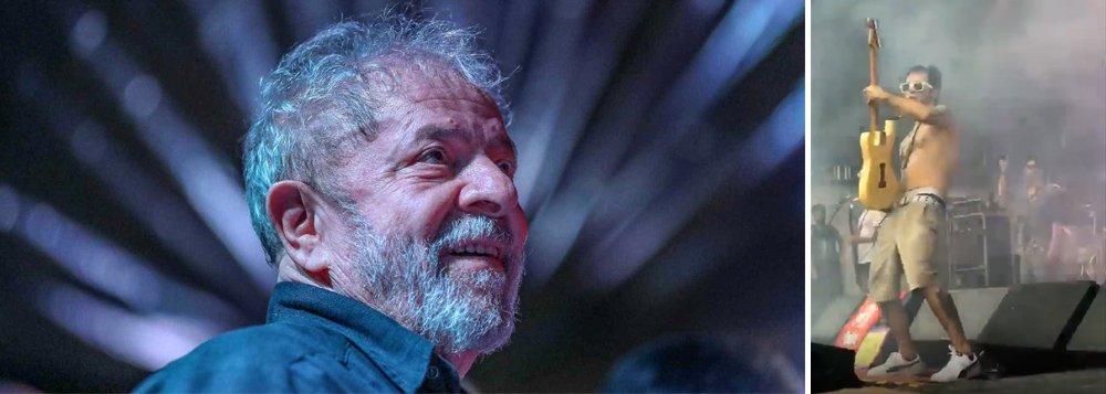 No Carnaval de Pernambuco, Lúcio Maia da Nação Zumbi homenageia Lula