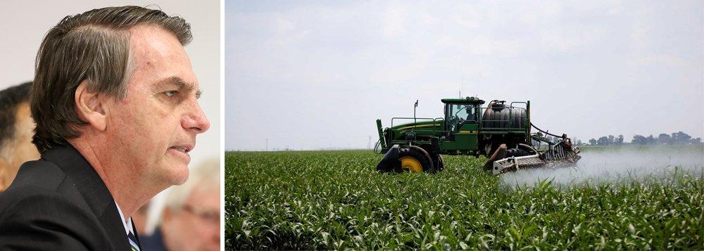 Na farra do agronegócio, governo Bolsonaro libera 3 agrotóxicos a cada 2 dias