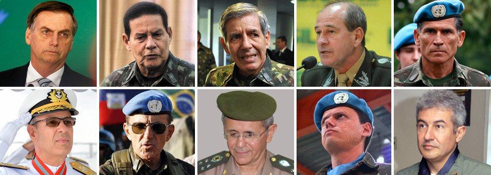 Militares correm risco ao se associar a um presidente mentalmente perturbado
