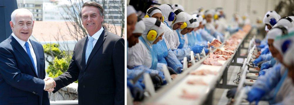 Bolsonaro vai a Israel apoiar Netanyahu e de novo ameaça agronegócio
