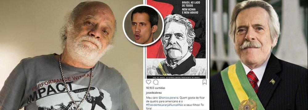 Ator Tonico Pereira se declara presidente dos EUA e chama José de Abreu para negociar