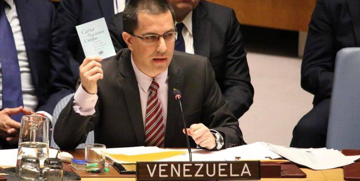 Chanceler pede que ONU rechace uso da força militar contra Venezuela