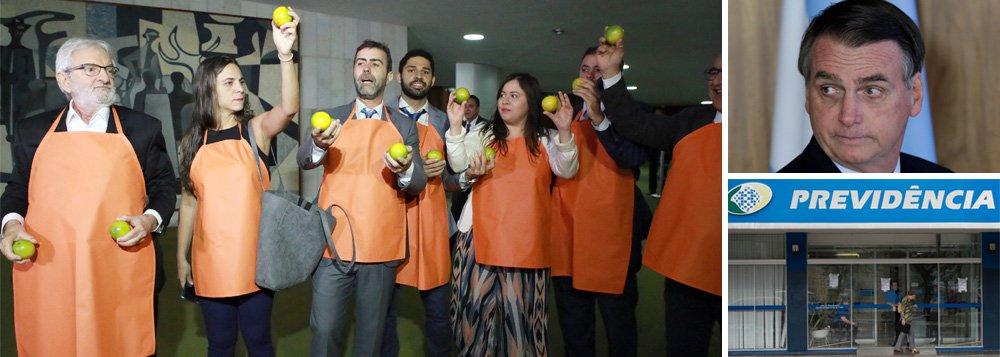 Não se combate reforma com laranjas, mas com propostas