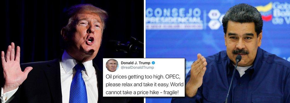 Trump vai ao Twitter e anuncia que vai reduzir na marra preço do petróleo