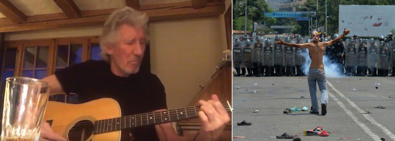 Roger Waters, do Pink Floyd, manda recado: tirem suas mãos da Venezuela
