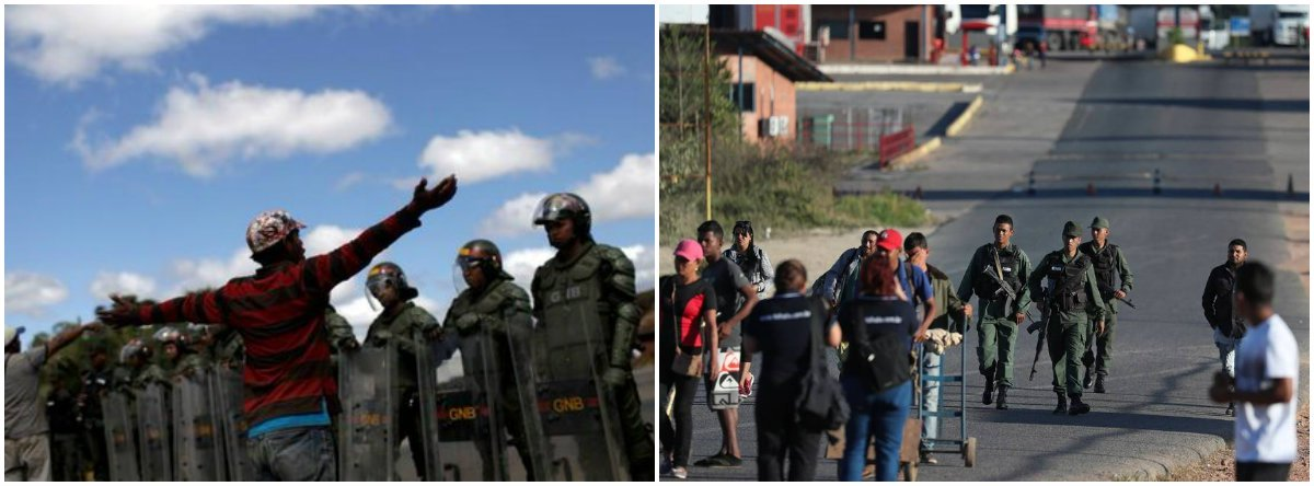 Caminhões com 'ajuda humanitária' do Brasil seguem para a Venezuela