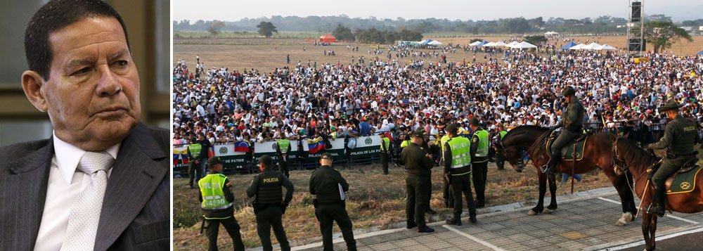 Mourão: fechamento da fronteira pela Venezuela 'não é ato de agressão'