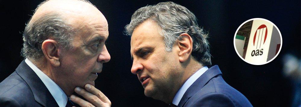 Delação da OAS revela propinas de R$ 125 mi para políticos, incluindo Serra e Aécio