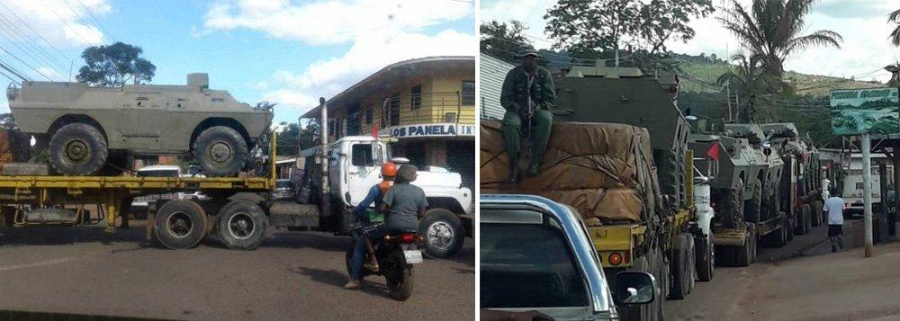 Maduro reage à ação de Bolsonaro e manda tanques para a fronteira