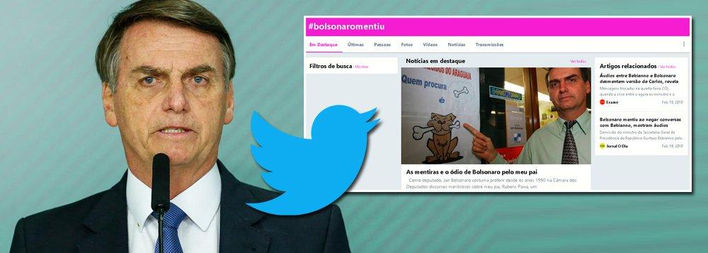 'Bolsonaro mentiu' é o assunto mais comentado nas redes sociais