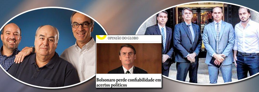Globo pede que Bolsonaro enquadre filhos e aprenda com militares a ser presidente