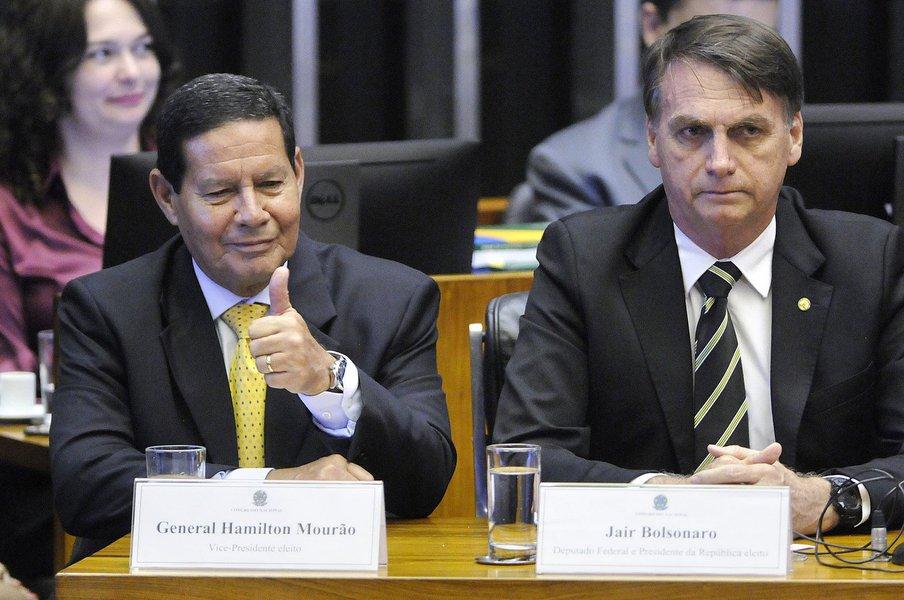 Bolsonaro a Mourão: 'você quer me matar?'