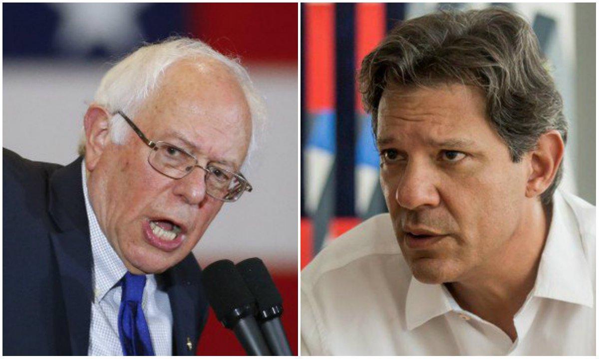 Corrida de Sanders à Casa Branca fortalece Fernando Haddad